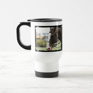 Taza plástica del viaje de la foto del caballo de