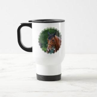 Taza plástica del viaje del caballo de Warmblood