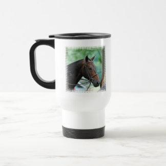 Taza plástica del viaje del caballo magnífico de W