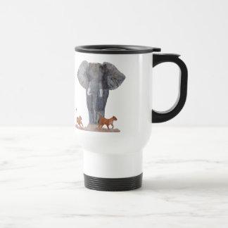 """Taza plástica del viaje del """"elefante y de las"""