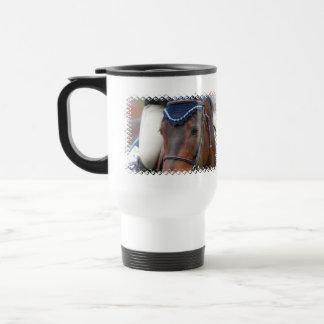 Taza plástica del viaje del perfil del caballo