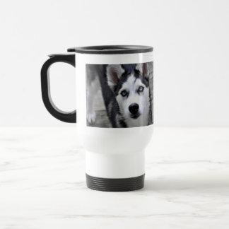 Taza plástica del viaje del perrito fornido