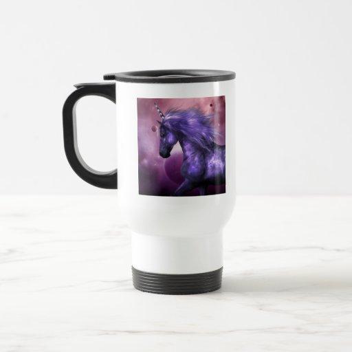 Taza plástica del viaje del unicornio