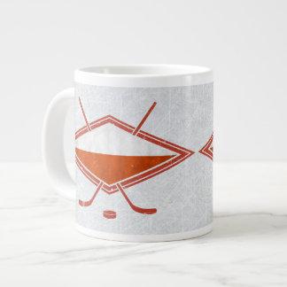 Taza polaca del logotipo de la bandera del hockey taza grande