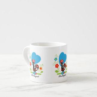Taza portuguesa de Expresso del gallo Taza Espresso