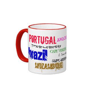 Taza portuguesa del mundo de la lengua