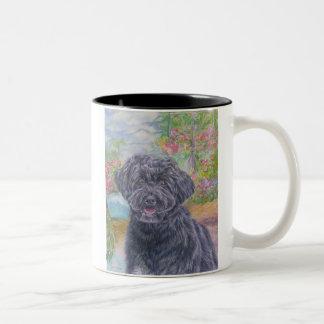 Taza portuguesa del perro de agua