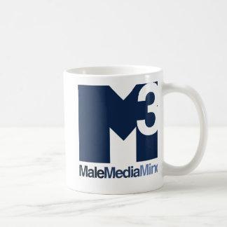 Taza principal del logotipo de la mente masculina