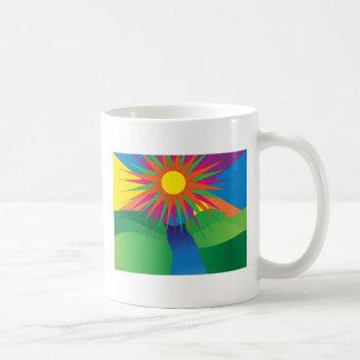 taza pschyedelic del sol