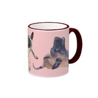 taza puppy de Malinas rosado