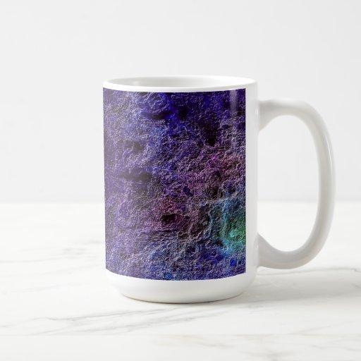 Taza púrpura abstracta de la taza de café