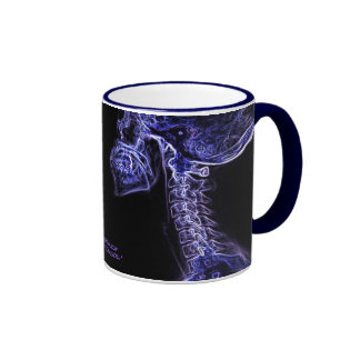 Taza púrpura/azul de la C-espina dorsal (imagen do