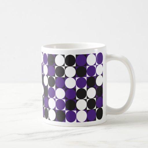 Taza púrpura cuadrada retra