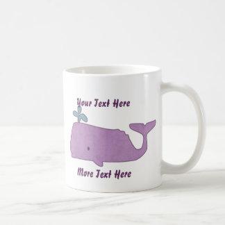 Taza púrpura de la ballena