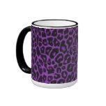 Taza púrpura de la colección del leopardo