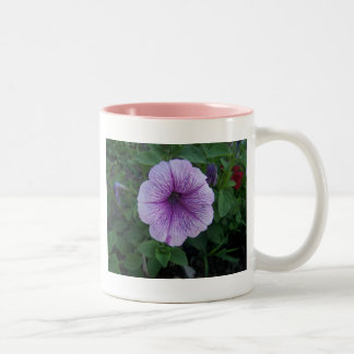 Taza púrpura de la flor
