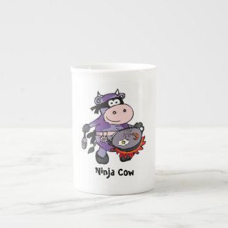 Taza púrpura de la vaca taza de porcelana