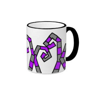 Taza púrpura de los tentáculos