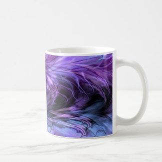 Taza púrpura de mármol del fractal