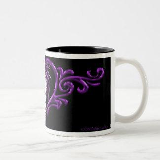 """Taza púrpura del café del tatuaje de """"Sophia"""" (té)"""