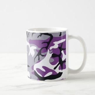 Taza púrpura del camuflaje