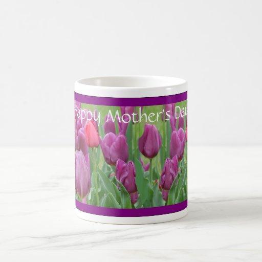Taza púrpura del regalo del día de madre del arte