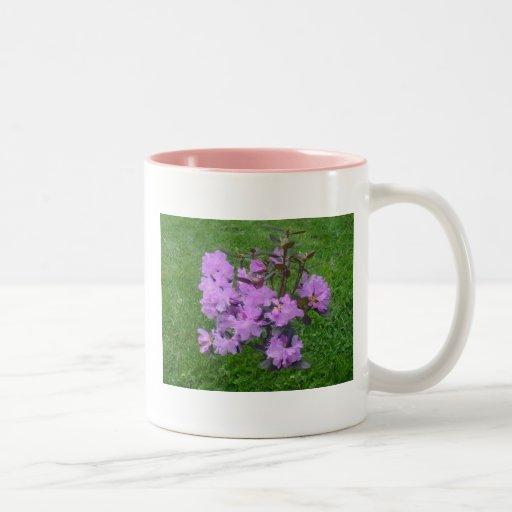 Taza púrpura del rododendro