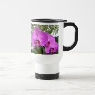 Taza púrpura del viaje de la orquídea