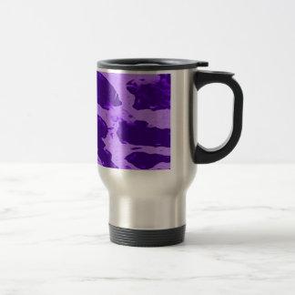Taza púrpura del viaje del estampado de girafa