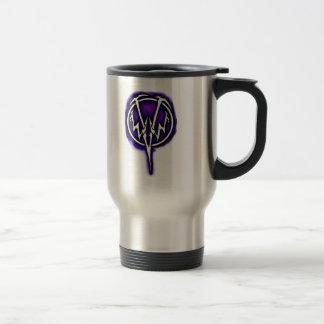 Taza púrpura del viaje del logotipo de WWV