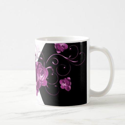 Taza púrpura elegante de lujo del Peony