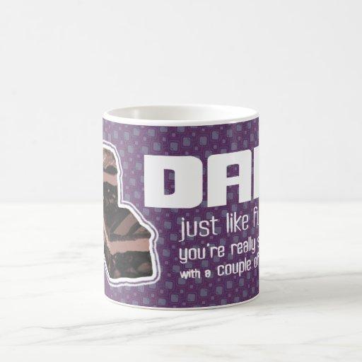 Taza púrpura oscura de la diversión del dulce de a