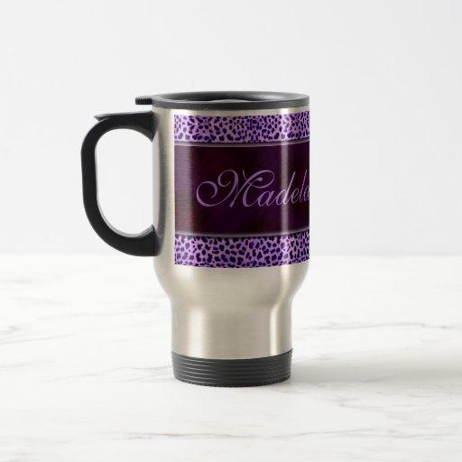 Taza púrpura personalizada del viaje de la impresi