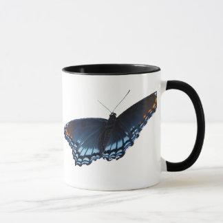 taza púrpura Rojo-manchada de la mariposa