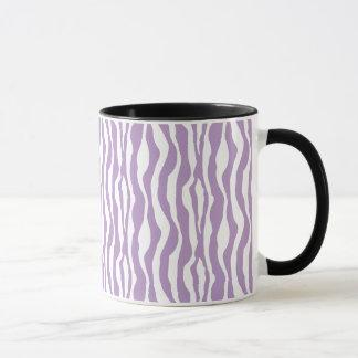 Taza púrpura salvaje del estampado de zebra