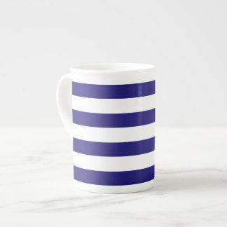 Taza rayada de la porcelana de hueso taza de porcelana
