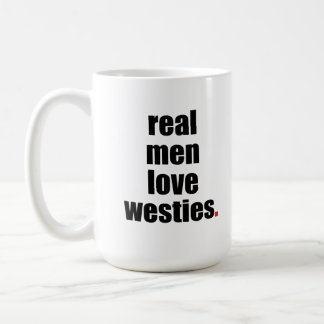 Taza real de Westies del amor de los hombres