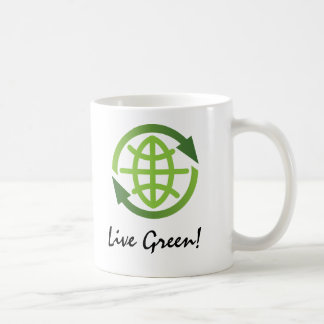 Taza: Reciclando el símbolo - verde vivo