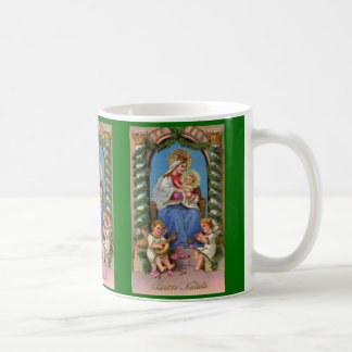 Taza religiosa de Jesús del Virgen María y del beb
