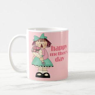 Taza remilgada Raggedy feliz del día de madre