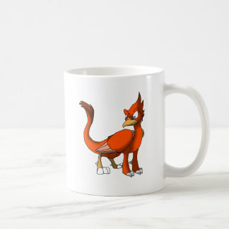 Taza reptil roja del pájaro/del híbrido del dragón