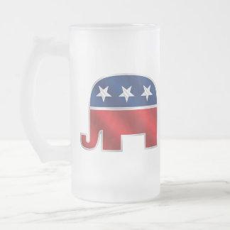Taza republicana del vidrio del elefante
