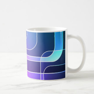 Taza retra con colores vibrantes