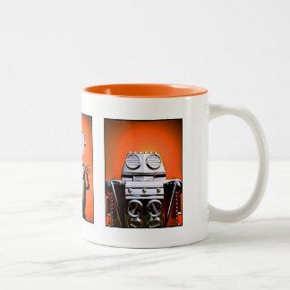 Taza retra de la formación 01 del robot del juguet