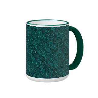 Taza retra de la taza de café de la turquesa del t