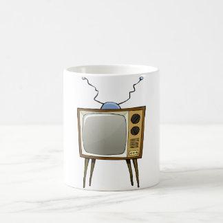 Taza retra de la televisión