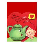 Taza retra de tarjeta del día de San Valentín del Postal