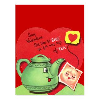 Taza retra de tarjeta del día de San Valentín del