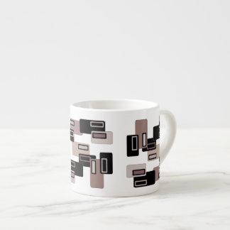 Taza retra del café express de los rectángulos del tazita espresso