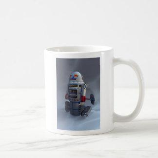 Taza retra del número 7 del robot del juguete